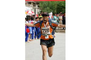 The Gobi March 2005 was amazing. Mr. Kim carried blind runner. The race was very tough.